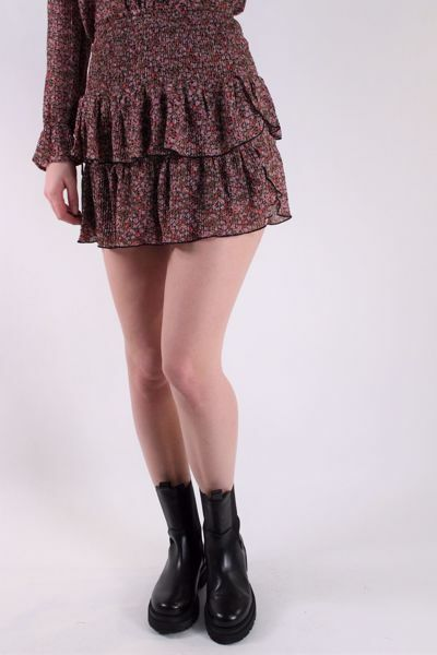 Bilde av Neo Noir Carin Flower Twirl Skirt