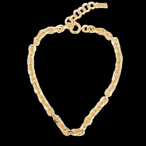 Bilde av Bon Dep Emilia Angeled Chain Necklace 40 Cm